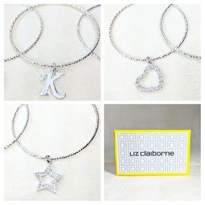 "🛍️NWT Initial ""K""Boxed Liz Claiborne Bracelet Set"